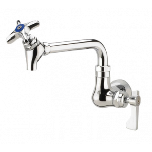 "Krowne 16-178L Royal Series Wall Mount Pot Filler Faucet w/ 6"" Spout with Shut-Off Valve"