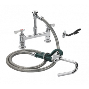 "Krowne 20-208L Royal Series Deck Mount Pot Filler Assembly w/ 8"" Adjustable Centers & 72"" Stainless Steel Flexible Hose"