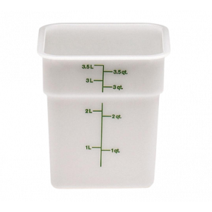 Cambro 4SFSP148 CamSquare 4 Qt. Food Container - Natural White