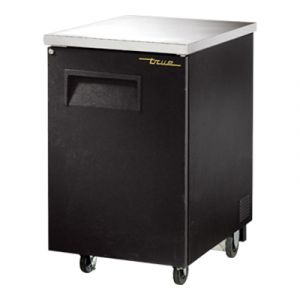 True TBB-1-HC Back Bar Refrigerated Cooler w/ 1 Door with Lock - Black