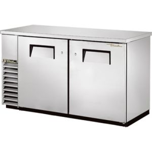 True TBB-24-60-S-HC Two-Section Back Bar Refrigerated Cooler w/ 2 Full Doors - Stainless Steel