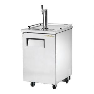 "True TDD-1-S-HC 24"" Stainless Steel Direct Draw Beer Dispenser - 1 Keg Kegerator"