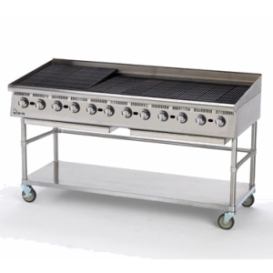 "Star 8172RCBA Ultra-Max 72"" Countertop Radiant Gas Charbroiler"
