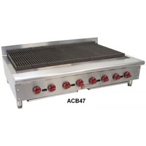 Wolf ACB47 46-3/4 in Achiever Gas Charbroiler, Manual Controls