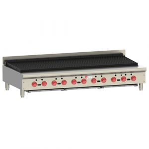 Wolf ACB60 62-1/8 in Achiever Gas Charbroiler, Manual Controls