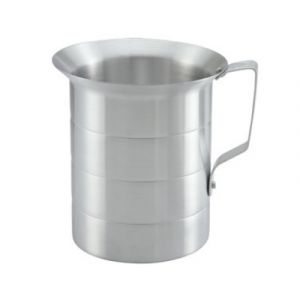 Winco AM-05 1/2-Qt. Measuring Cup - Aluminum