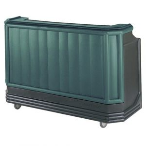 "Cambro BAR730421 Cambar 73"" Portable Bar w/ 7-Bottle Speed Rail - Granite Green with Black Base"