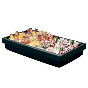 "Cambro BUF48110 Buffet Bar Base, 3 Pan Capacity, 42"" x 24"" x 7"" - Black"