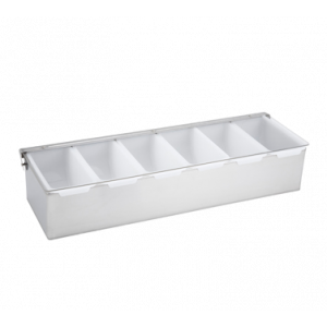 Winco CDP-6 6-Compartment Condiment Dispenser - Stainless Steel