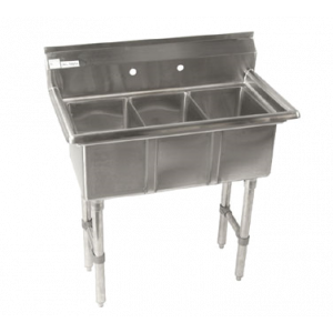 "Klingers CON-3 Convenience/Deli Sink, three compartment, 35""W x 19-1/2""D"
