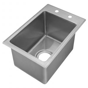 "Klingers DIS-1014 Drop-In Sink, one compartment, (1) 10"" wide x 14"" front-to-back x 10"" deep bowl"