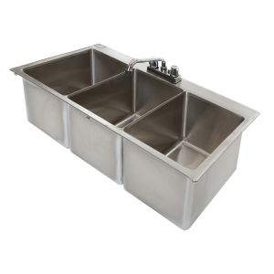 "Klingers DIS-3042 Drop-In Sink, one compartment, (1) 10"" wide x 14"" front-to-back x 10"" deep bowl"