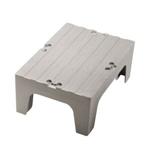 "Cambro DRS300480 Solid Top Bow Tie Dunnage Rack 30""x 21"" x 12"" - Speckled Gray"