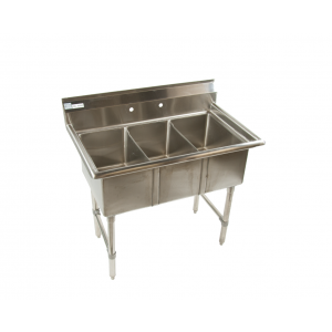 "Klingers ECS-3-SM Economy Sink, three compartment, 41""W x 25-1/2""D"
