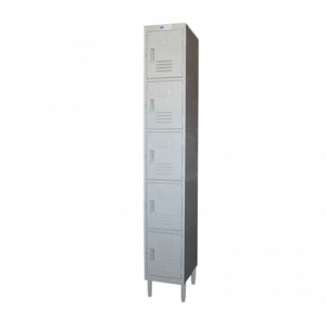 "GSW EL-5DR Locker 12""W x 20""D x 77""H, Door Pulls, 5-tier"