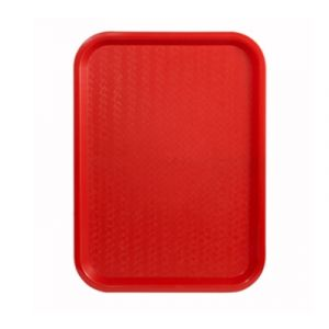 "Winco FFT-1014R Fast Food Tray, 10"" x 14"" - Red"