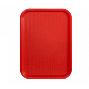 "Winco FFT-1216R Fast Food Tray, 12"" x 16"" - Red"