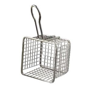 American Metalcraft FRYS443 Metal Serving Baskets 4-in Square