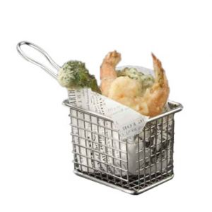 American Metalcraft FRYT433 Metal Serving Baskets  Rectangular Tabletop Fry Basket