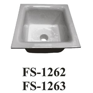 "GSW FS-1263 Floor Sink, 12"" x 12"" x 16"", 3"" drain with drain strainer, cast iron"