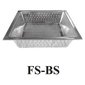 "GSW FS-BS Floor Sink Basket, 10"" x 10"" x 3"", stainless steel"