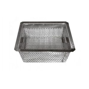 "GSW FS-BS5 Floor Sink Basket, 10"" x 10"" x 5"", stainless steel"