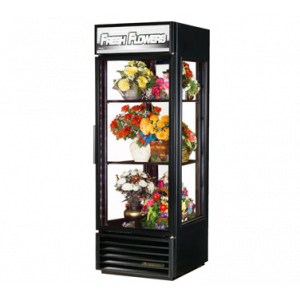 True G4SM-23FC-HC Black Glass Floral Merchandiser w/ 1 Glass Hinged Door - 23 Cu. Ft..