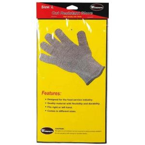 Winco GCR-L Cut Resistant Glove, Wire Mesh - Large