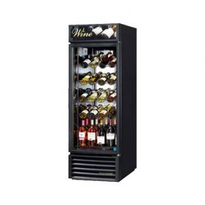 True GDM-23W-HC Black One-Section Glass Door Wine Merchandiser