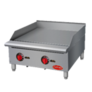"Entree GR36T 36"" Countertop Gas Griddle w/ Thermostatic Controls - 90,000 BTU"