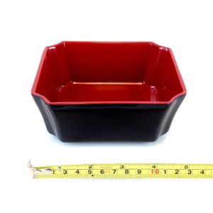 "Japanese Black and Red  Melamine Traditional Side Dish, 5.2""(W), HMJ-J603S"