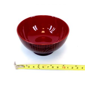 "Japanese Burgundy And Red Soup or Rice Bowl, 4.5""(W) WF102BU"