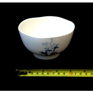 "Japanese White Soup or Rice Bamboo Bowl, 4.5""(W) HMJ-XJ6050"