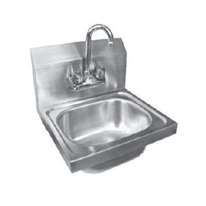 "Klingers HS 1000 Hand Sink, wall mount, 13-1/2"" wide x 9-3/4"" front-to-back x 4-1/2"""