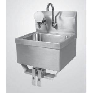 "Klingers KVSH-1000 Hand Sink, wall mount with knee pedal valves, 13-1/2"" wide x 9-3/4"""