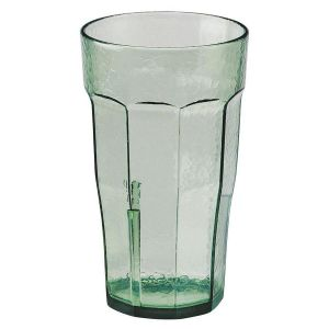 Cambro LT16427 Laguna 16 Oz. Fluted Tumbler, 36/Case - Spanish Green