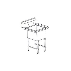 "Klingers MCS-1-1515 Sink, one compartment, 18""W x 18-1/2""D"