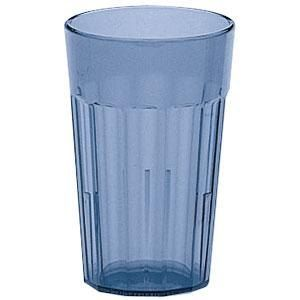 Cambro NT14401 14 Oz. Newport Fluted Tumbler, 36/Case - Slate Blue