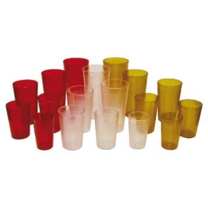 Winco PTP-20R 20-Oz. Plastic Tumbler, Pebbled - Red (DZ)