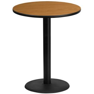 36'' Round Laminate Table Top with 24'' Round Bar Height Base