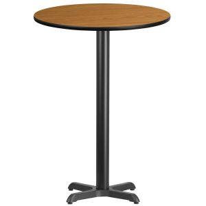 30'' Round Laminate Table Top with 22'' x 22'' Bar Height Base