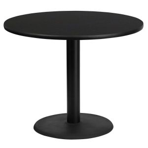 36'' Round Laminate Table Top with 24'' Round Table Height Base