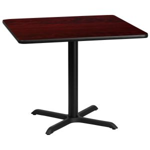 36'' Square Laminate Table Top with 30'' x 30'' Table Height Base