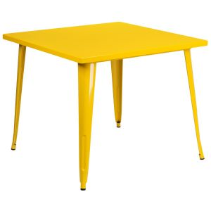 35.5'' Square Metal Indoor-Outdoor Table
