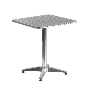 23.5'' Square Aluminum Indoor-Outdoor Table with Base