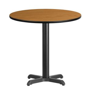 30'' Round Laminate Table Top with 22'' x 22'' Table Height Base