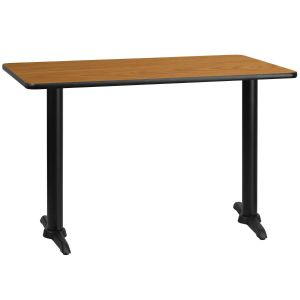 30'' x 48'' Rectangular Laminate Table Top with 5'' x 22'' Table Height Bases