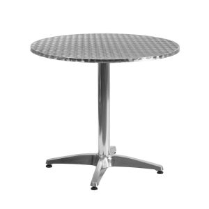 31.5'' Round Aluminum Indoor-Outdoor Table with Base