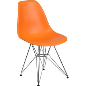 Elon Series Plastic Chair with Chrome Base