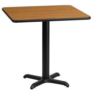 24'' Square Laminate Table Top with 22'' x 22'' Table Height Base